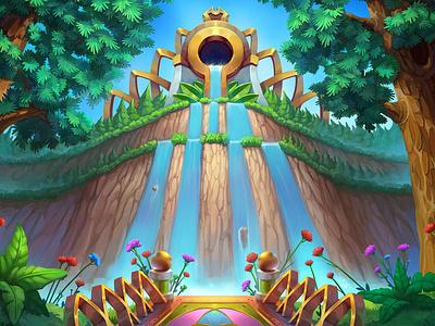 Backgrounds for the Solitaire game game design drawing landscape game art sketch background concept illustration