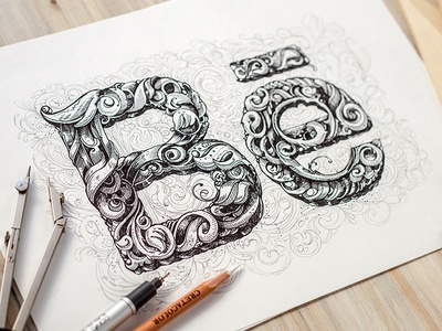Be letter sketch drawing handmade graphic calligraphy behance lettering illustration