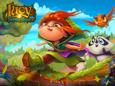Lucy / The Forest Whisper girl mobile screen splash illustration character cartoon art game