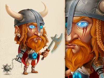 Warrior   LFG viking hat cartoon drawing art game sketch concept character illustration