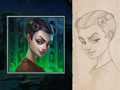 Winterfell | character cartoon stark slot game got sketch art game character concept illustration