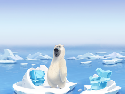 Global Warming | Advertasing Poster winter advertising poster art global warming bear sketch concept character illustration