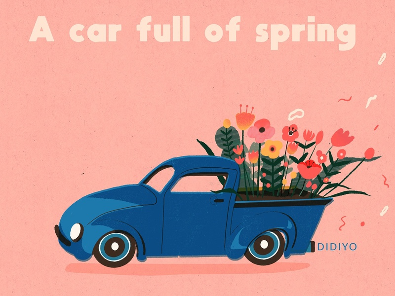 A car full of spring~!
