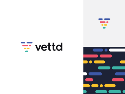 Vettd Logo flat branding icon logo