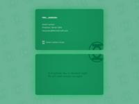 Green Lantern Business Card - Weekly Warm-Up