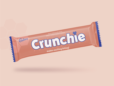 Crunchie Wrapper Redesign - Weekly Warm-Up wrapper packaging typography flat