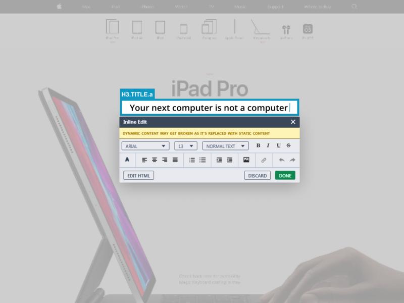 VWO Website Editor