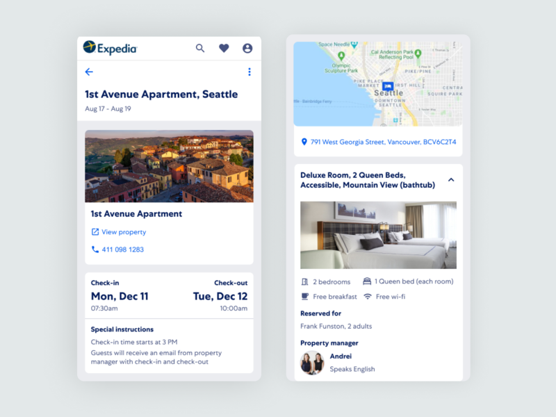 Expedia - Post Booking Experience for HomeAway Bookings