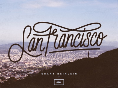 San Francisco typography type lettering handdrawn hand drawn
