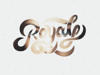 Royals type typography lorde royals lettering brush copic marker chisel hand drawn