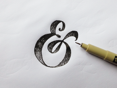 Ampah ampersand lettering typography australian