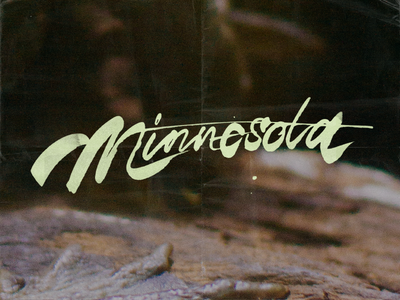 Minnesota typography lettering pen ink messy script photo photography film cola pen
