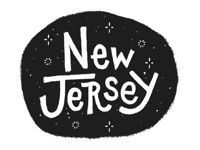 New Jersey lettering typography type snow cold city america new jersey new york