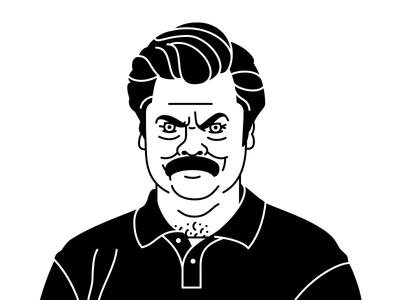 You had me at Meat Tornado. parks recreation meat america shooting camping illustration drawing ron swanson