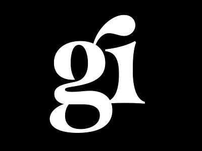 g_i lettering typography type typeface ligature