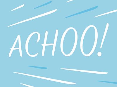 Achoo! type design wip type sneeze achoo lettering typeface