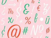 Brush Script Glyphs