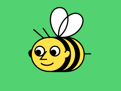 Bee cute face illustration bee