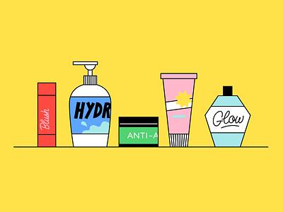 Bottles animation drawing illustration brand skincare bottles