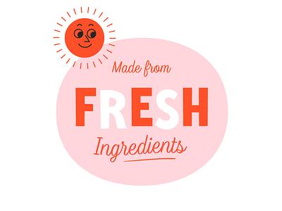 Fresh specimen retro lettering typography typeface fresh illustration sun