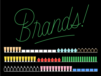 Brands! stroke color illustration lettering typography typeface type brand