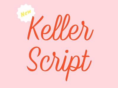 Keller Script brush script brush script release lettering type typeface
