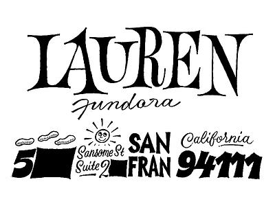 Lauren Fundora illustration typeface font type typography sketch lettering envelope