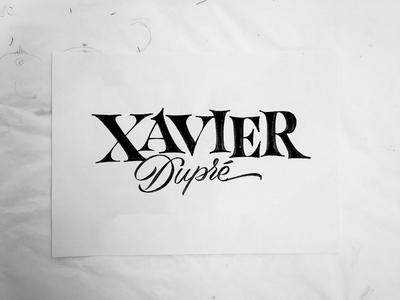 Xavier illustration typeface font type typography sketch lettering envelope