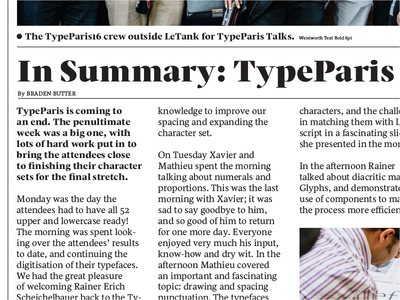 Wentworth Specimen type design agsc type typeface newspaper specimen