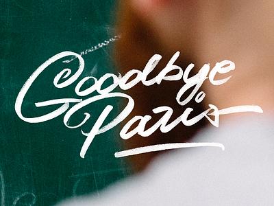 Goodbye Paris photo typography type lettering paris