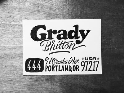 Grady illustration typeface font type typography sketch lettering envelope