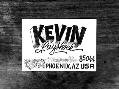 Kevin illustration typeface font type typography sketch lettering envelope