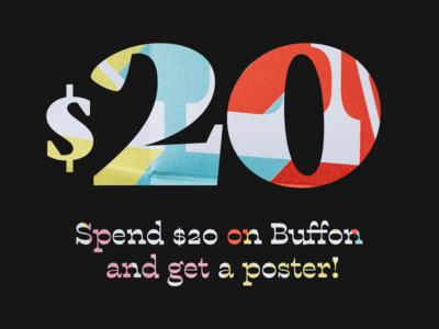 Buffon Poster Offer reverse contrast sale offer font typography type typeface buffon