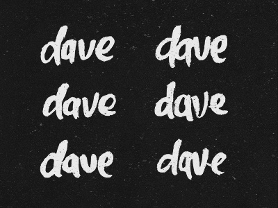 Dave Logos typography type lettering designs texture logo concepts rough hand drawn