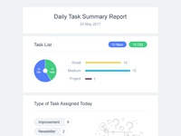 Daily Task Summary Report