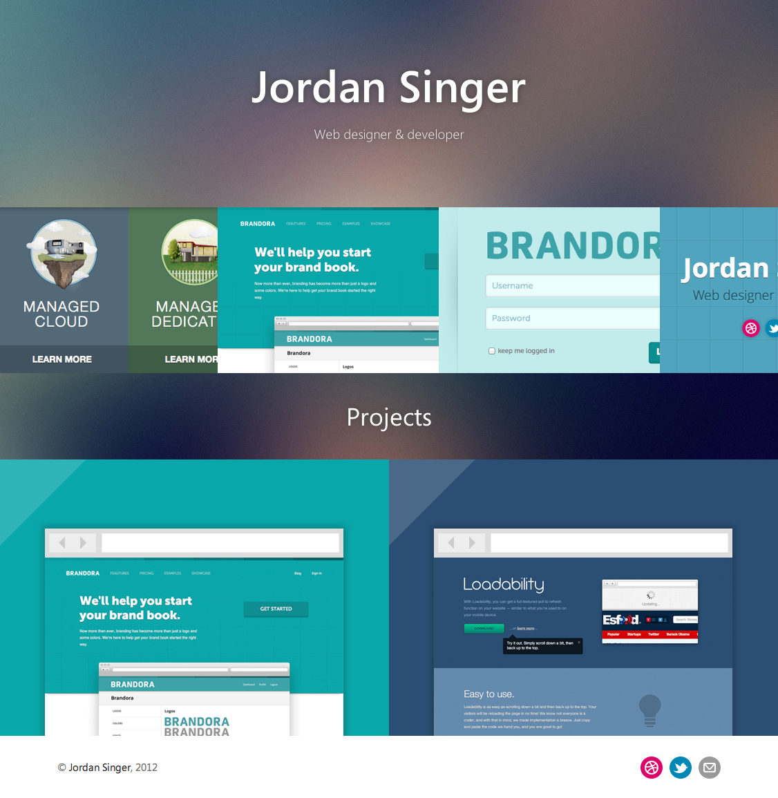 Jordan singer s portfolio   web designer and developer
