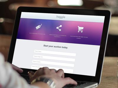 Haggle haggle web app purple