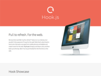 Hook.js - Pull to refresh. For the web.