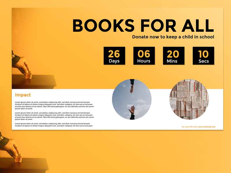 Donation Timer #Day14 flat ui web illustration design dailyui minimal