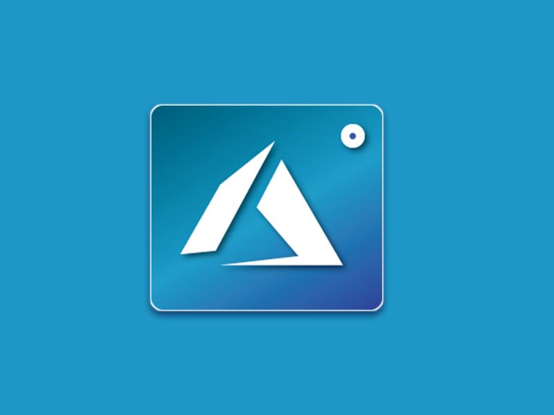Azure App Icon branding logo vector design flat illustration web ui dailyui minimal