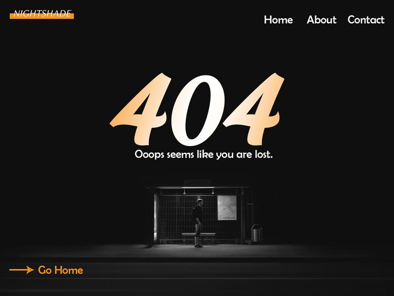 Nightashade Error 404 Page #DailyUI minimal type illustration flat design website logo ui web dailyui