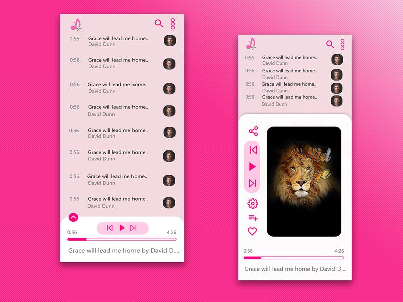 Music Player UI design #DailyUI 010 branding flat dailyui ui minimal
