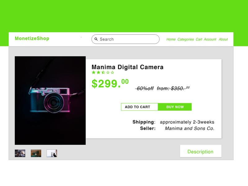 Product Page (ecommerce) #DailyUI website ux web illustration design ui dailyui minimal flat