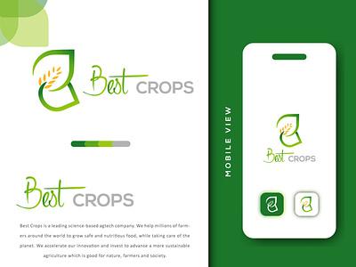 Best Crops Logo Design grow eco harvest business farm logo logo icon modern logo creative logo type agriculture logo agriculture crop design brand identity brand design logotype abstract logo design logo graphic design