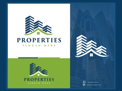 Properties Logo housing logo real estate  mor properties building logo real estate illustration design brand identity brand design abstract logotype logo design logo graphic design