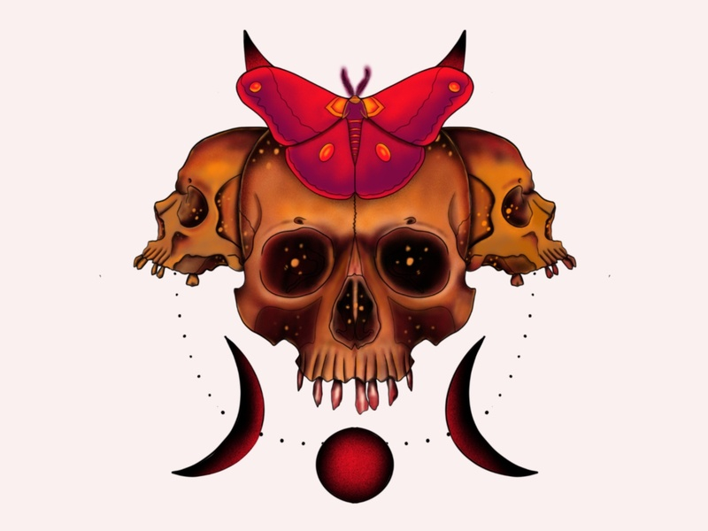 Skull of hope dark art horror art digital illustration drawing design neotraditional tattoo design tattoos concept art concept design illustration artworkforsale artwork branding design branding