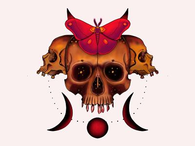 Skull of hope dark art horror art digital illustration drawing design neotraditional tattoo design tattoos concept art concept design illustration artworkforsale artwork branding design branding
