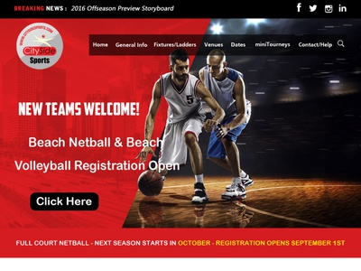 City Sports Landing Page photoshop illustration landing branding logo graphic design