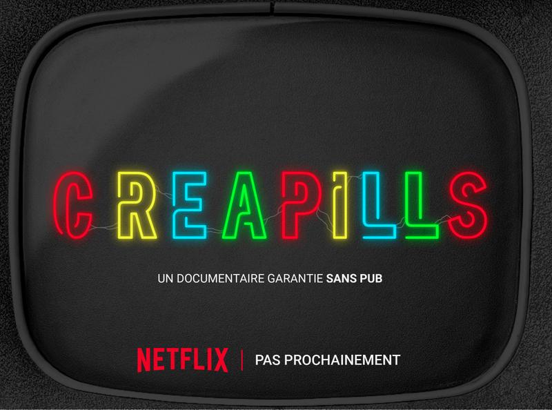 Creapills netflix website web app icon vector branding logo design illustration