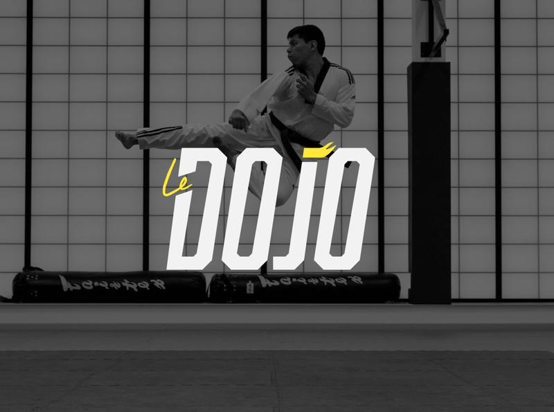 Le dojo typography illustrator vector logo illustration design